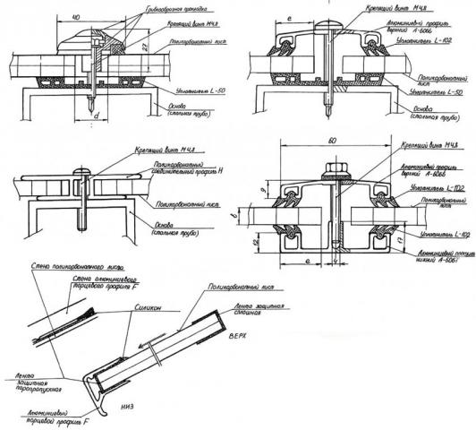 Инструкция по монтажу поликарбоната на металлический каркас