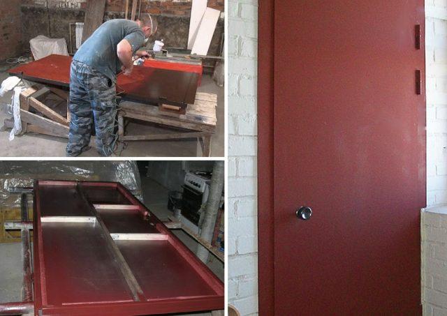 Покраска металлических дверей