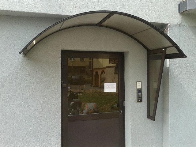 Как сделать козырек над входной дверью