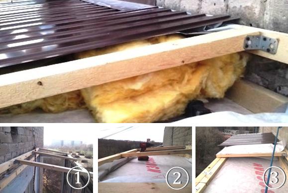 Как утеплить крышу на балконе
