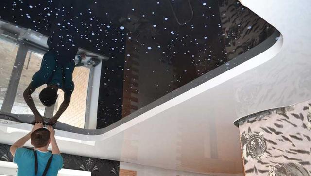 Натяжной потолок из ПВХ: матовый, глянцевый, производители, установка