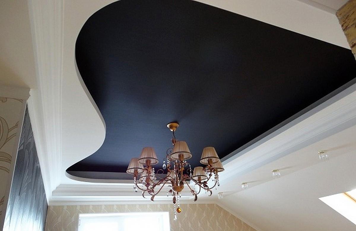 фото потолки черного цвета что