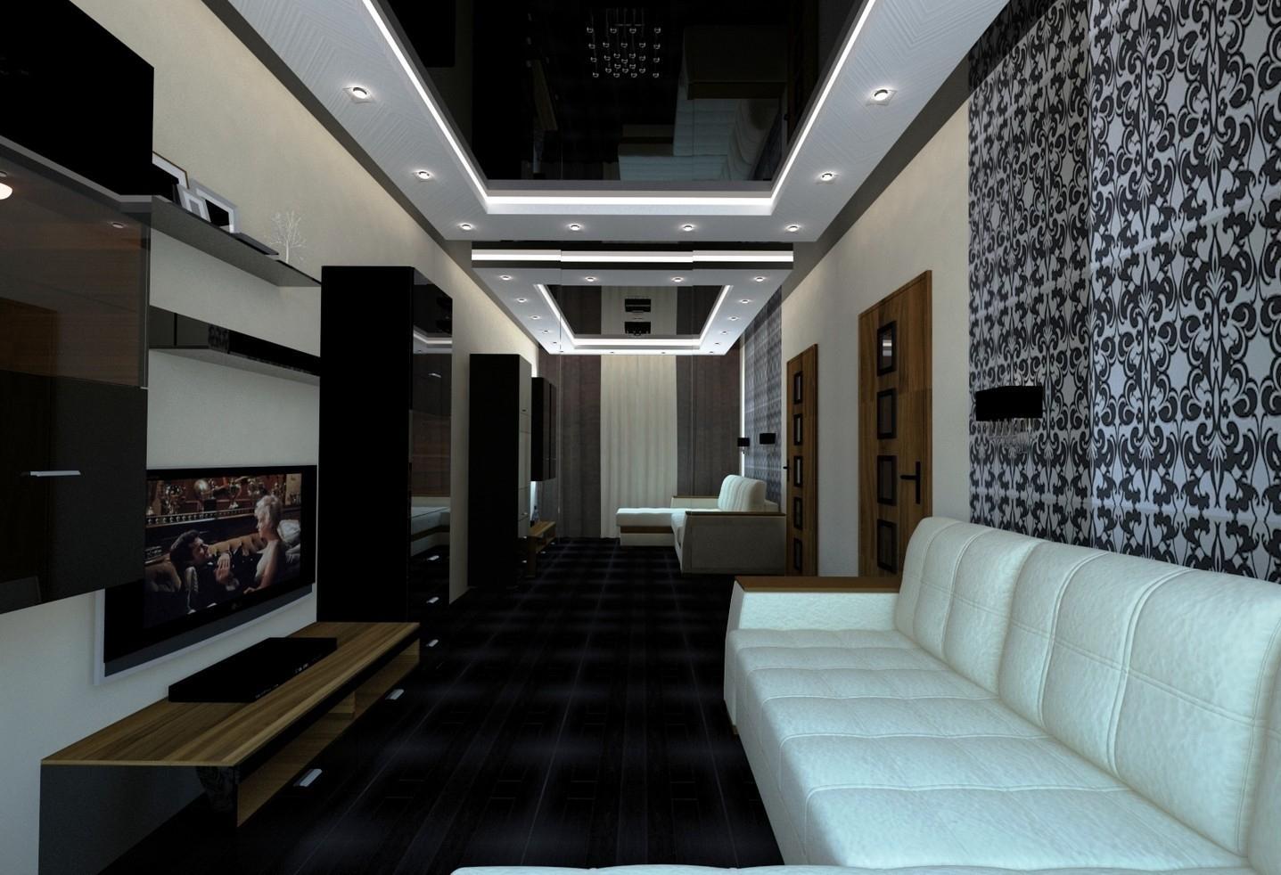есть городе, фото комнат с черными натяжными потолками малышек-пони