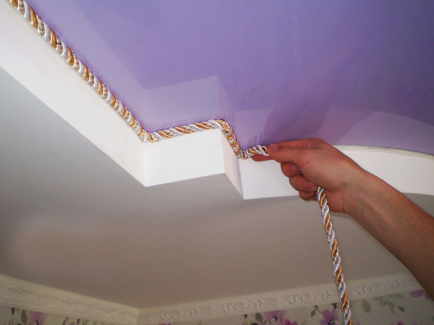 Декоративный шнур для натяжных потолков фото