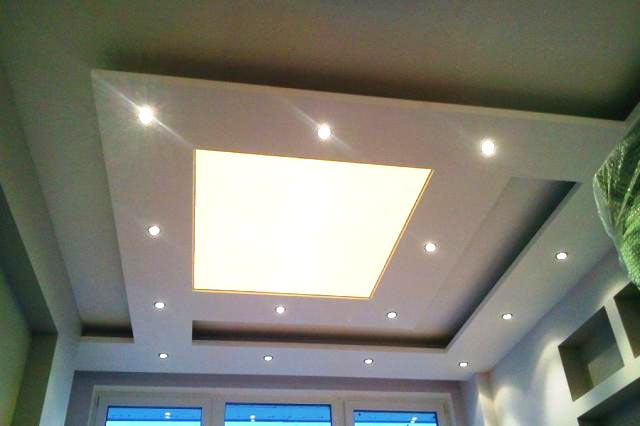 Потолочные светодиодные светильники, встраиваемые в гипсокартон: диаметр и установка