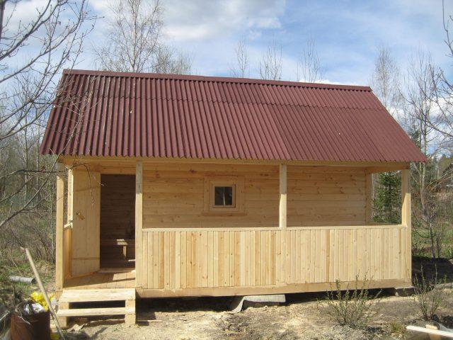 Двускатная крыша на баню: как сделать своими руками