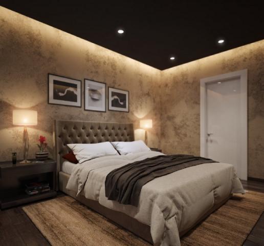 Черный натяжной потолок: матовый, глянцевый, с подсветкой