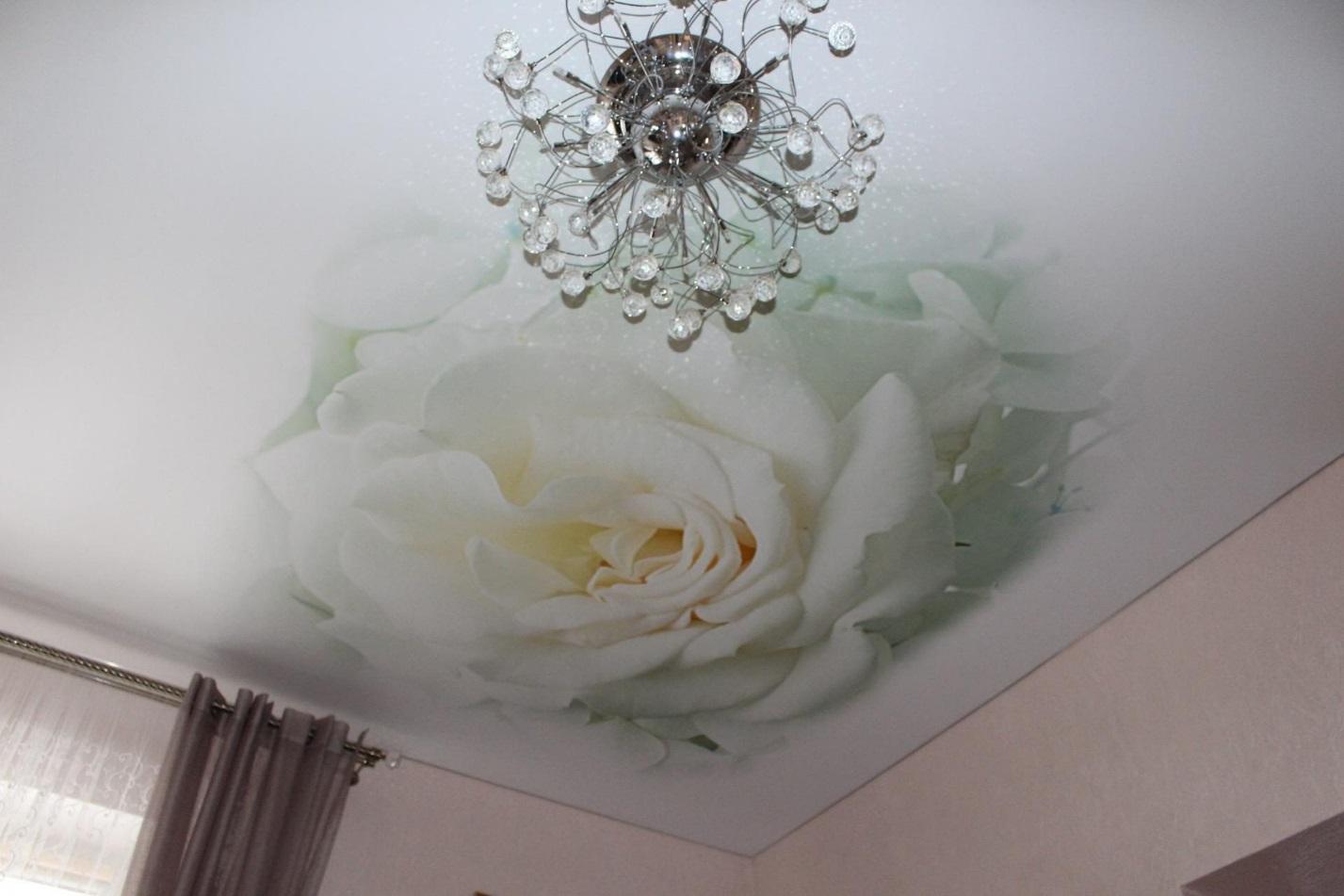так хочется натяжные потолки с розами фото вообще есть целая