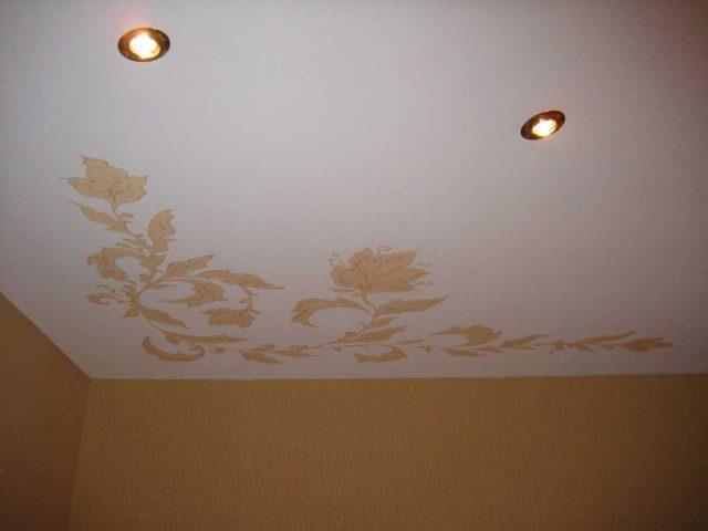 Натяжной потолок с рисунком: как делают, какие бывают, фото в интерьере