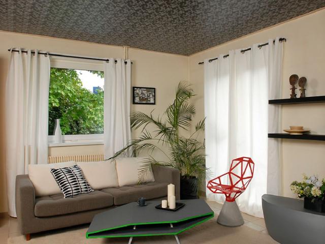 Фактурные натяжные потолки: фото, описание и отзывы