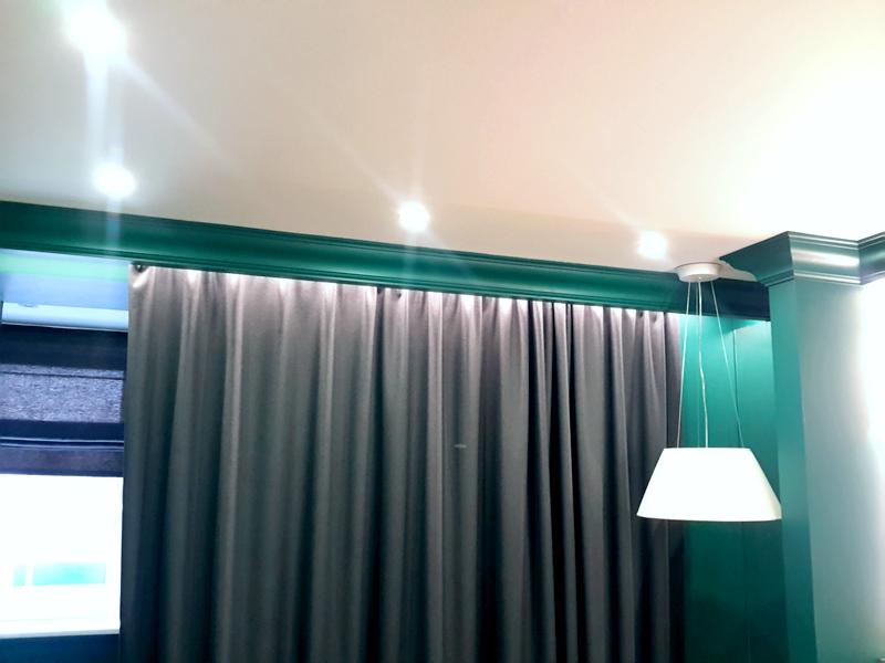 отлично потолочный светильник под карнизы в зале фото фото