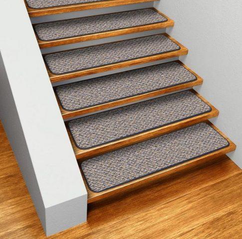 Отделка лестницы ковролином: технологии крепления, фото