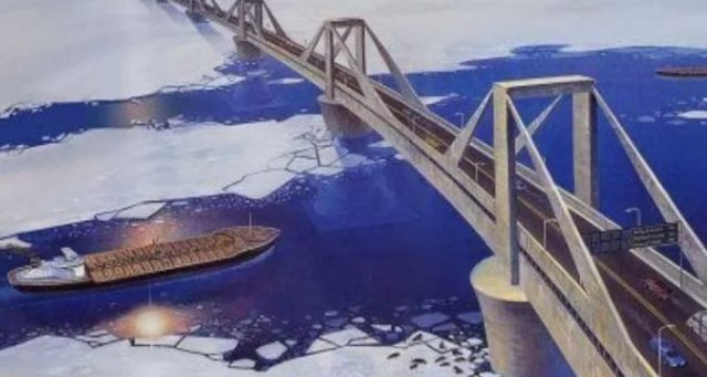 Строительство моста на Сахалине