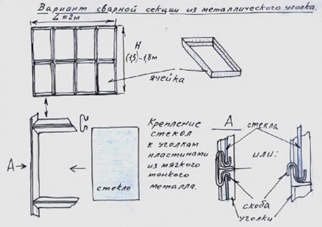 Стеклянная теплица своими руками: как сделать, чертежи, фото