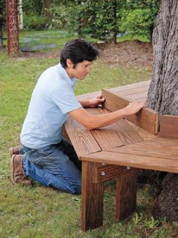 Как сделать лавочку вокруг дерева своими руками