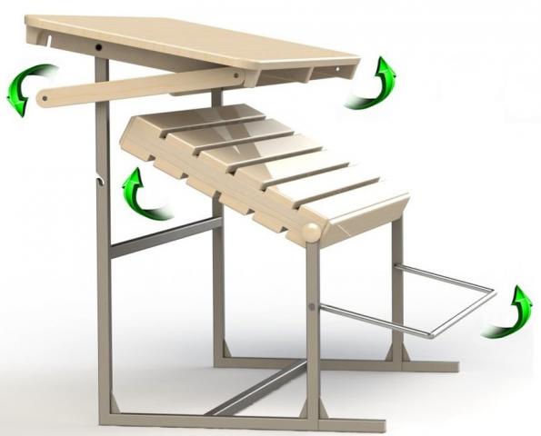 Как сделать лавочку-трансформер своими руками: чертежи, фото, видео