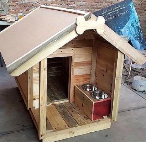 Как сделать будку для собаки из поддонов своими руками
