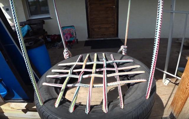 Как сделать качели из шины своими руками: пошаговая инструкция, фото