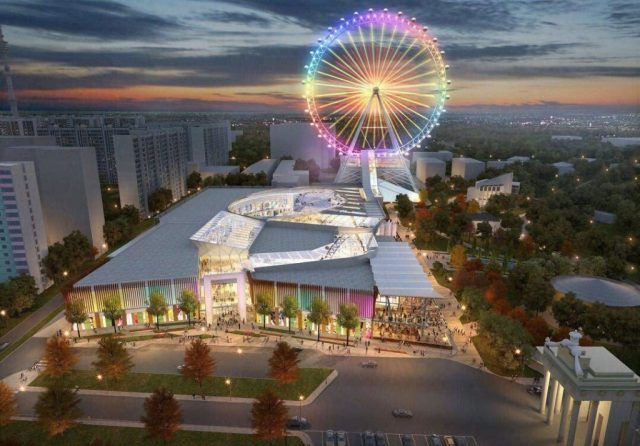«Солнце Москвы». На ВДНХ ведется строительство колеса обозрения, самого высокого в Европе