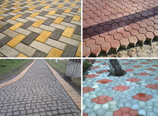Укладка тротуарной плитки или брусчатки на бетон своими руками