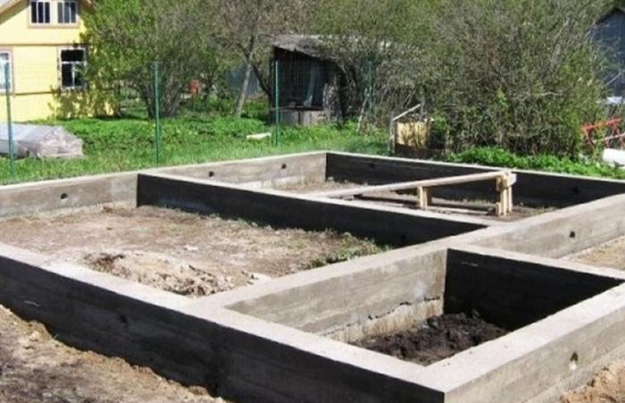 Фундамент для дома из асбестовых труб 54