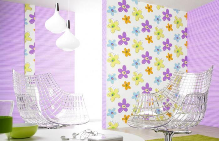 Как красиво поклеить обои двух цветов комната