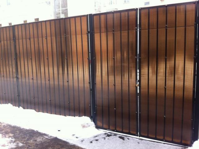 Ворота из металлопрофиля своими руками фото 942