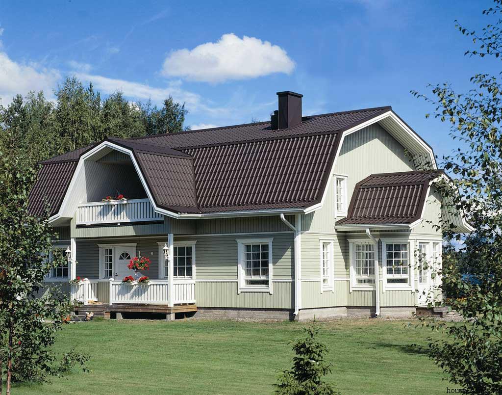 Мансардные крыши домов фото