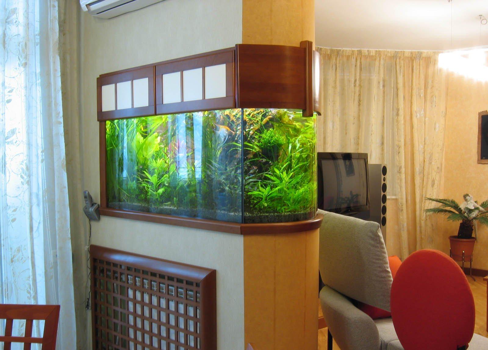 Дизайн интерьера и аквариум