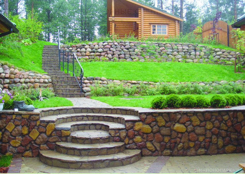 Фото опорных стен в ландшафтном дизайне