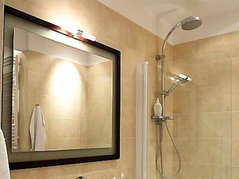 Зеркало в ванной своими руками 14