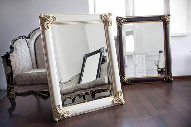 Зеркало в багете своими руками фото