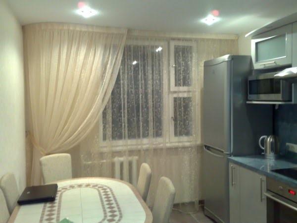 шторы на кухню фото из двух цветов фото