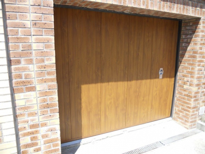 Раздвижные двери гаража своими руками 34