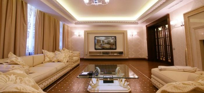 Дизайн небольшого зала частного дома фото