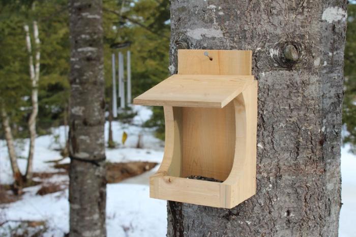 Сделать кормушку для птиц деревянную своими руками