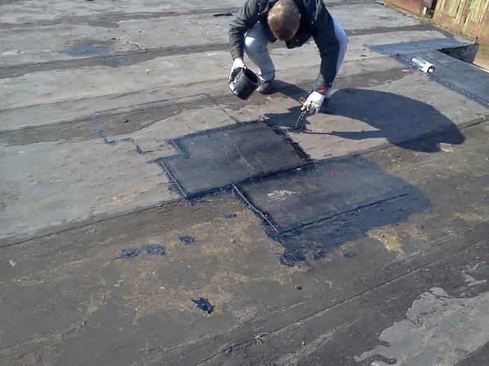 Локальный ремонт крыши гаража своими руками 93