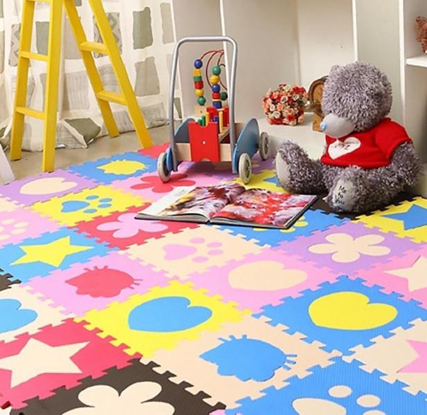 Мягкий пол для детских комнат: знакомство с технологией EVA