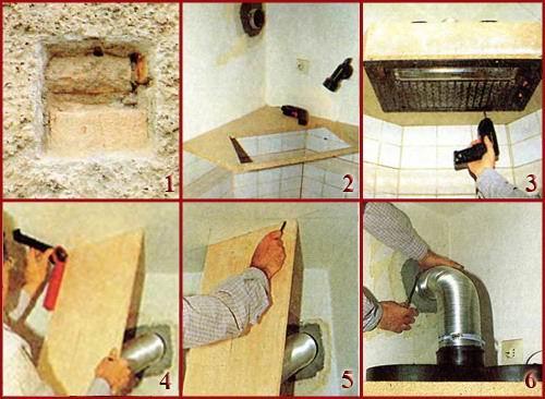 Как установить кухонную вытяжку своими руками в частном фото 789