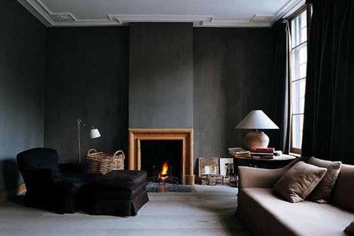 чёрный потолок коричневый пол какие обои подойдут правило