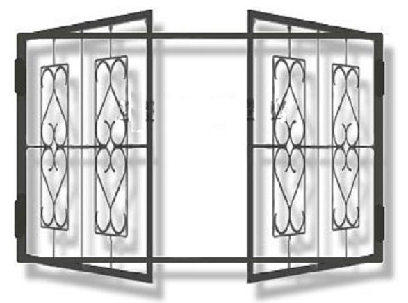монтаж металлической распашной решетчатой двери прайс