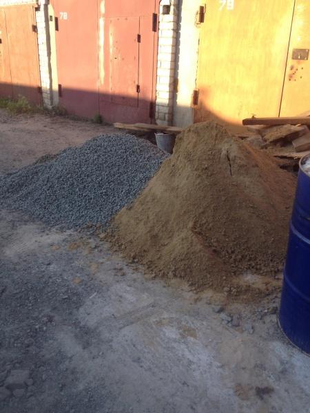 Как сделать подушку из гравия для гаража