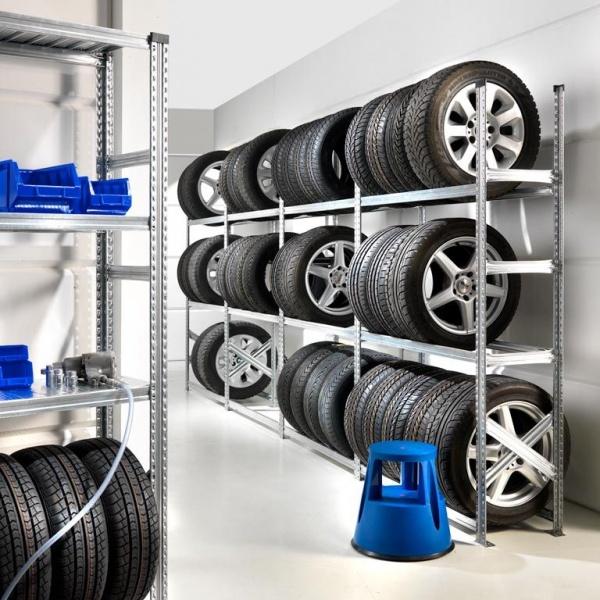 Стеллаж для колес в гараже