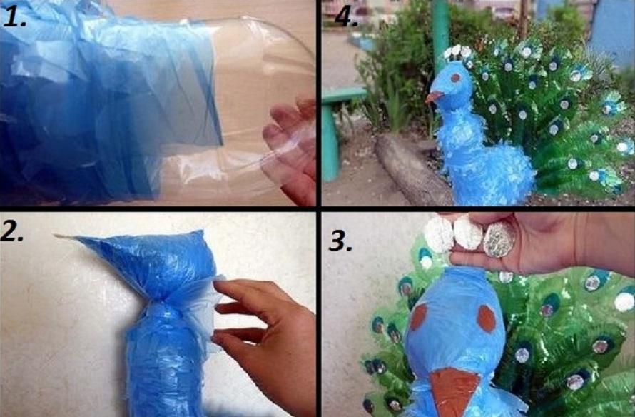 Как сделать птицы из пластиковых бутылок пошаговая инструкция