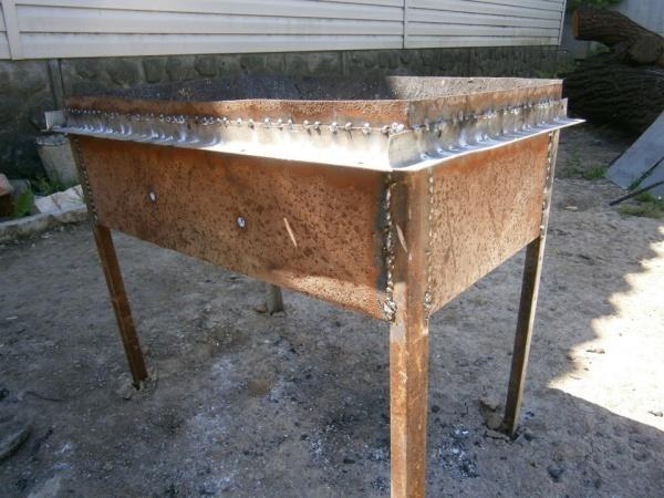 Как сделать мангал из металла своими руками сварка
