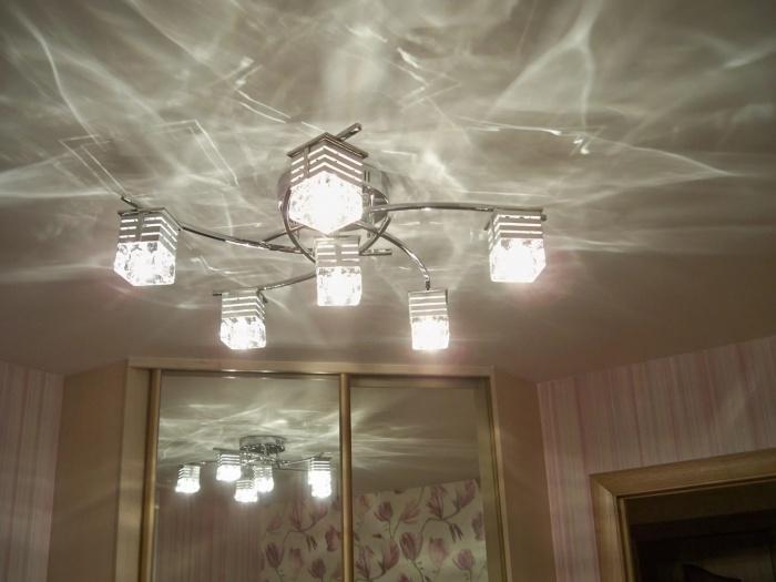 Люстры под натяжной потолок в гостиную