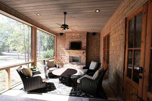 веранда с мангалом к дому с фото