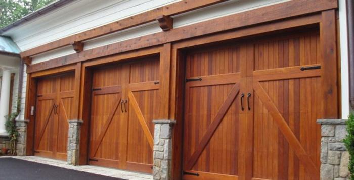 Деревянные гаражные ворота своими руками фото 24