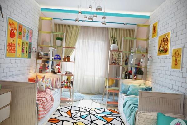 Детская комната дизайн для девочки и мальчика фото