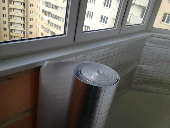 Пенофол утепление балкона своими руками